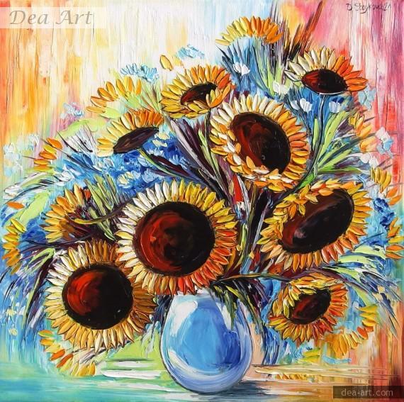 Картина с цветя - Щастие